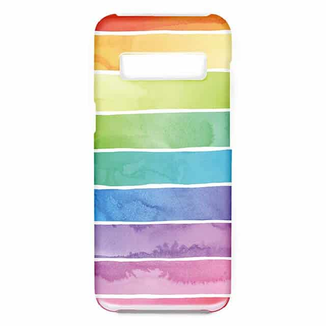 Rainbow Pastel Ombre Stripes Galaxy S10ケース