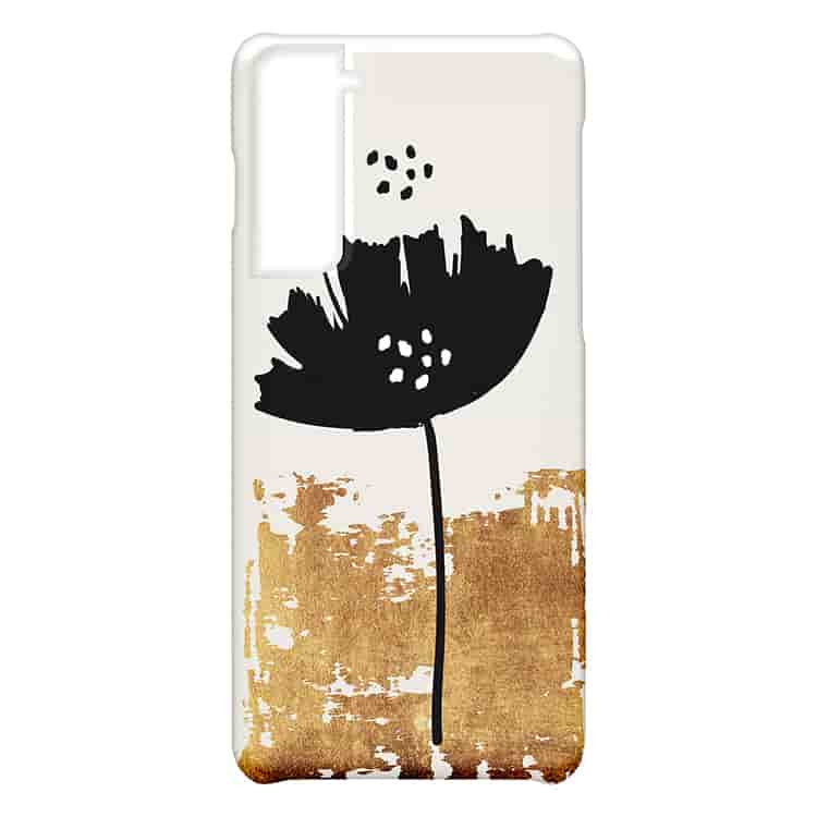 Black Poppy Galaxy S21ケース