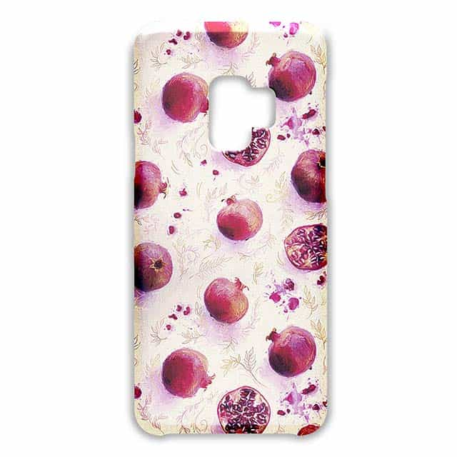 >Painted Pomegranates with Gold Leaf Pattern Galaxy S9ケース
