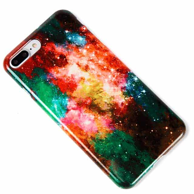 Rainbow Galaxy iPhone8 Plusケース