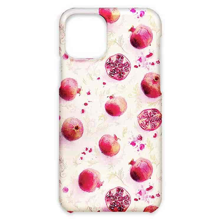 Painted Pomegranates with Gold Leaf Pattern iPhone11/11Pro/11Pro Maxケース