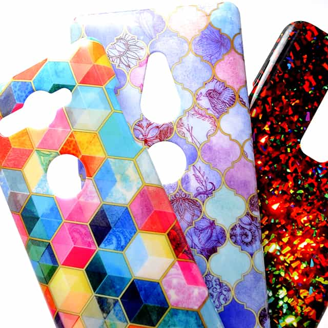 Crystal Bohemian Honeycomb Cubes Colorfu スマホケース2
