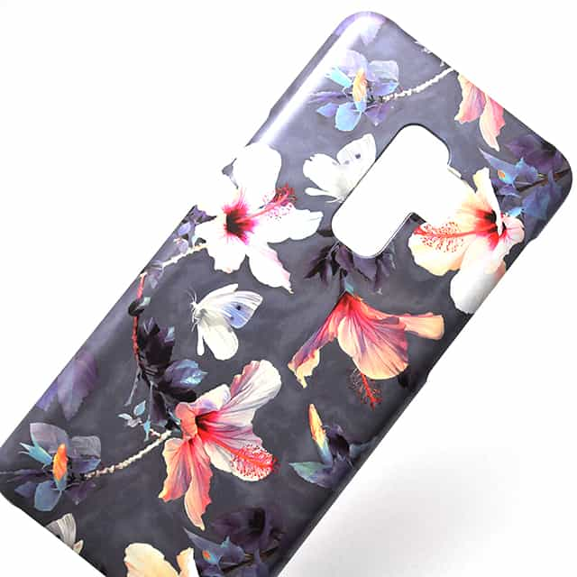 Butterflies and Hibiscus Flowers a painted スマホケース2