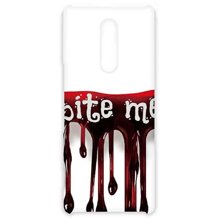 Bite Me, Vampire Halloween Blood Drip Xperia1ケース