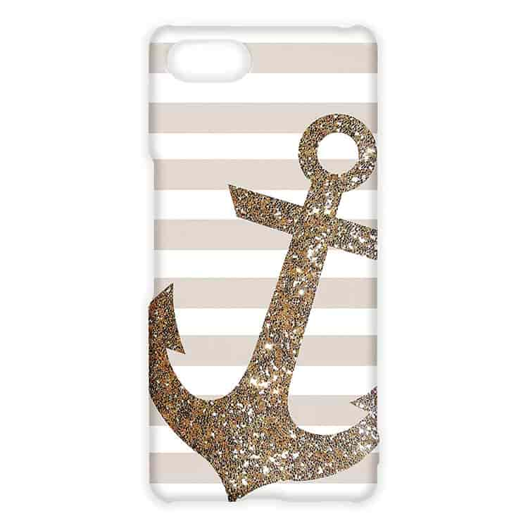Glitter Anchor in Gold Xperia Aceケース