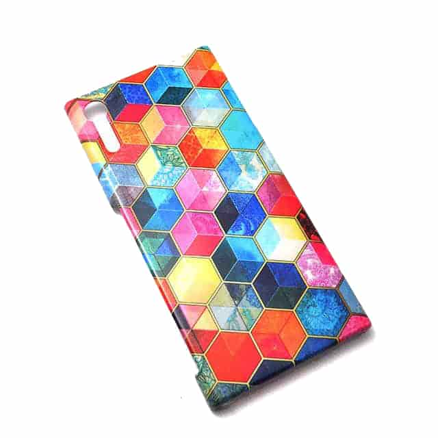 Crystal Bohemian Honeycomb Cubes Colorful Xperia XZケース