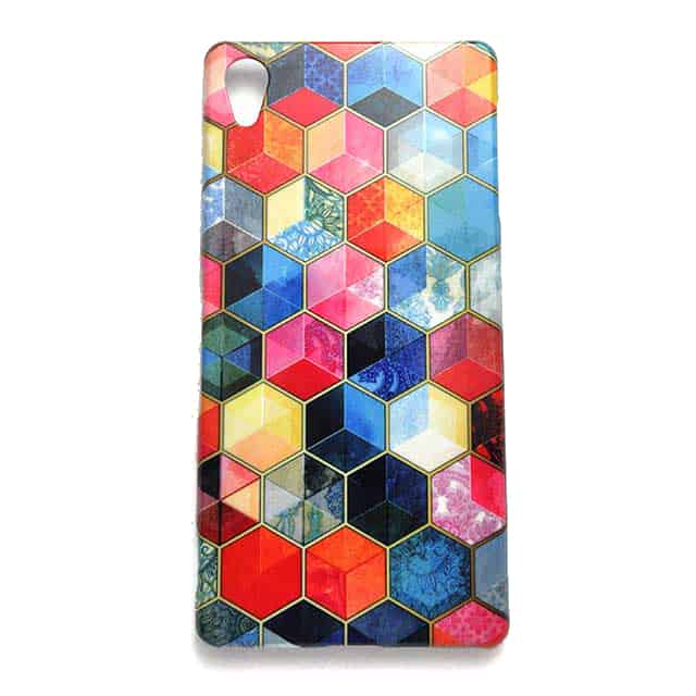 Crystal Bohemian Honeycomb Cubes Colorful Hexagon Pattern