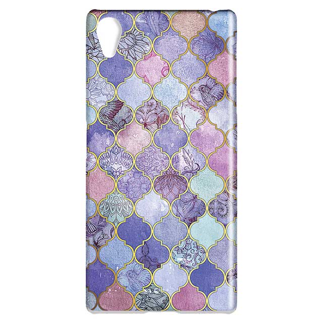Royal Purple Mauve and Indigo Decorative Moroccan Tile Pattern Xperia Z5ケース